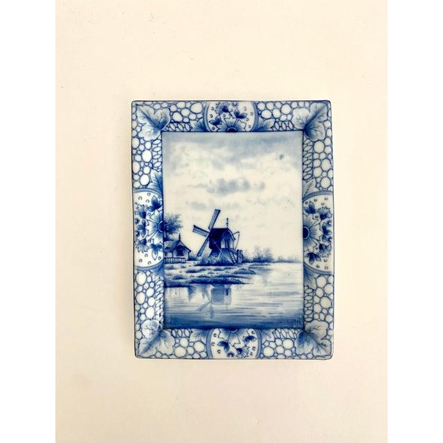 1940s Antique 1920s Delft Trinket Dish For Sale - Image 5 of 5