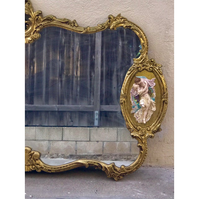 Antique Italian Rococo Gold Gilded Mirror - Image 4 of 10