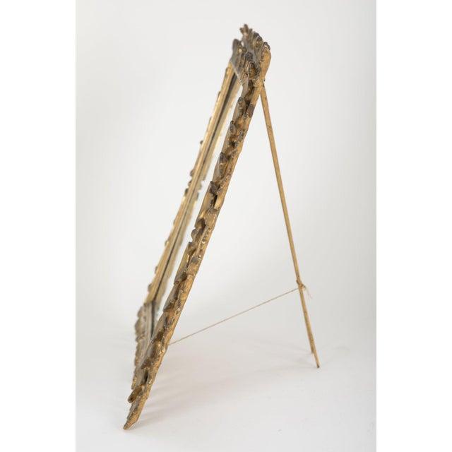 Italian Italian Rococo Style Gilt Wood Vanity Mirror For Sale - Image 3 of 8