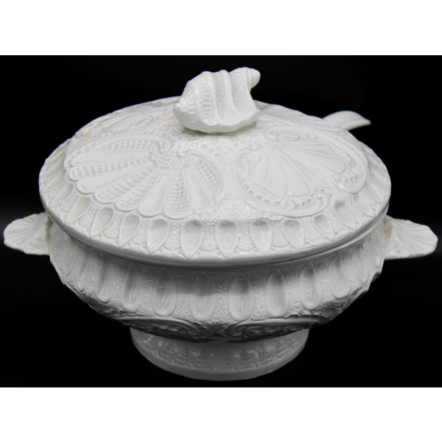 Large Italian Creamware Lidded Tureen With Ladle For Sale - Image 12 of 13