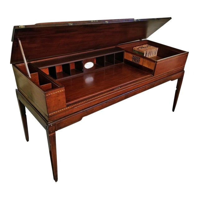 18c British Mahogany and Satinwood Bureau For Sale