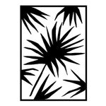 """Large """"Palm Two"""" Print by Kate Roebuck, 34"""" X 48"""""""