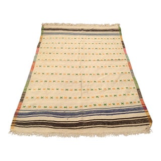 Vintage Turkish Kilim Rug - 4′4″ × 6′4″ For Sale