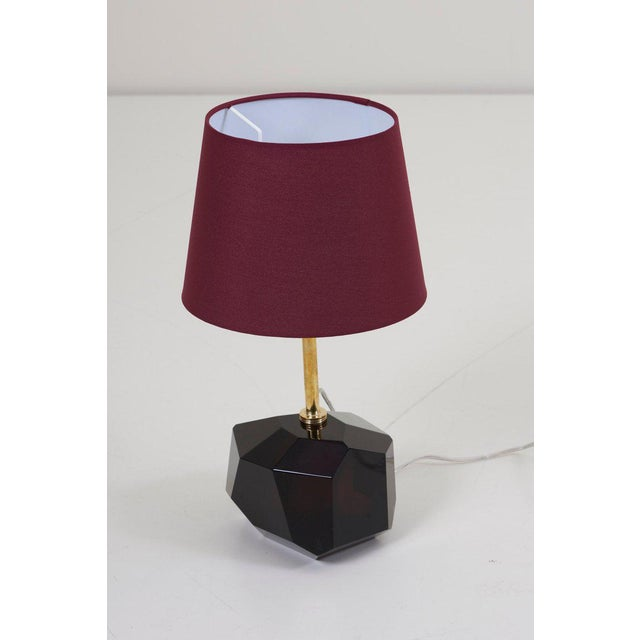 2000 - 2009 Pair of Diamond Shape Murano Glass Table Lamps For Sale - Image 5 of 11