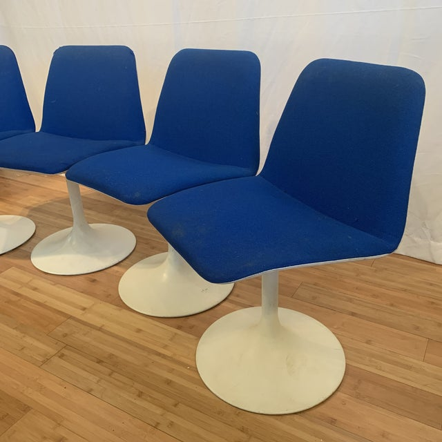 1960s Vintage Borje Johanson Swivel Chairs- Set of 4 For Sale In Milwaukee - Image 6 of 10