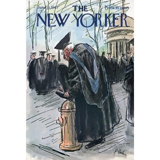 Vintage 1967 New Yorker Cover, June 10 (Perry Barlow), Graduation For Sale