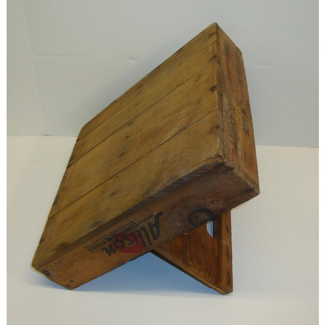 Vintage Rustic Tool Crate Wooden Caddy For Sale - Image 4 of 5