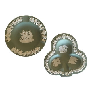 Vintage Wedgwood Jasperware Ashtrays - Set of 2