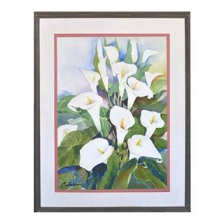 Calla Lilies Watercolor