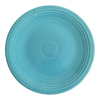 "Homer Laughlin Fiesta 15"" Chop Plate-Turquoise For Sale"
