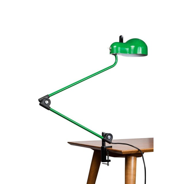 Stilnovo 1970s Joe Colombo 'Topo' Green Task Lamp for Stilnovo For Sale - Image 4 of 9