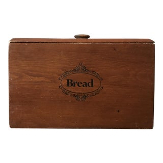 Rustic Wooden Bread Box With Lid