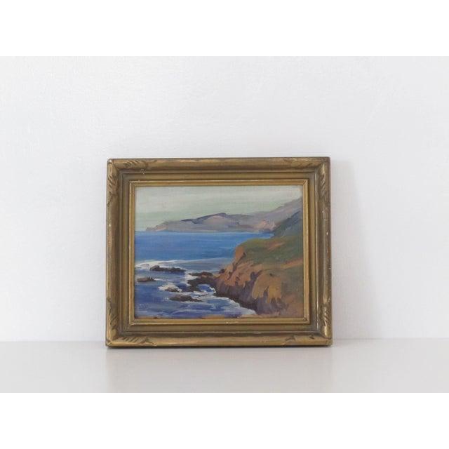 California Coastal Landscape Oil Painting - Image 2 of 3