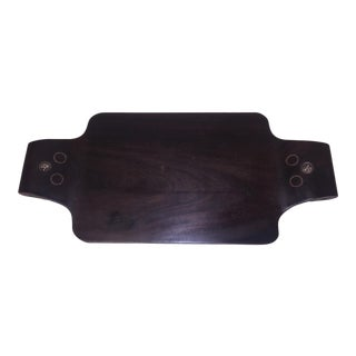 1940s William Spratling Rosewood and Silver Cheese Board For Sale