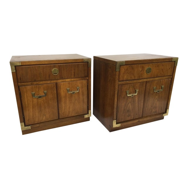 Thomasville Huntley Campaign Nightstand - A Pair - Image 1 of 4