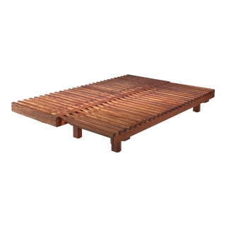 Pierre Chapo convertible elm daybed, France, 1960s For Sale