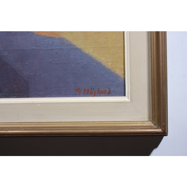"""Hoglund 1951 """"Pa Street Alicante Spain"""" Painting - Image 3 of 4"""