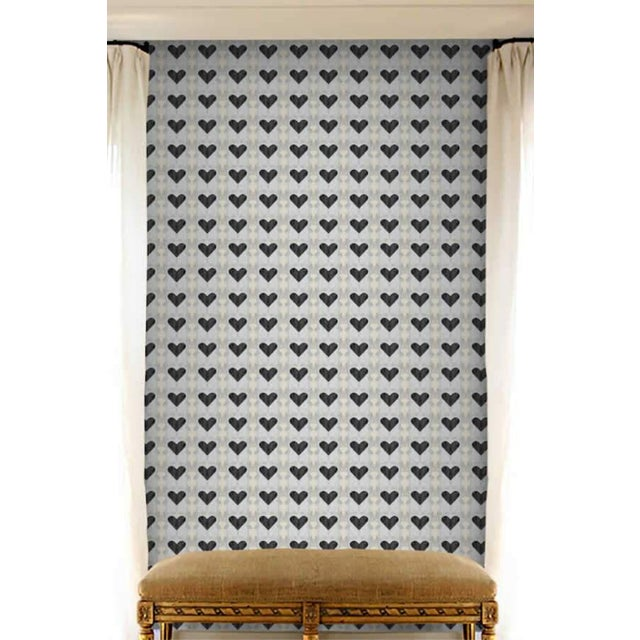 Contemporary Queen of Hearts Extra Small Wallpaper For Sale - Image 3 of 5