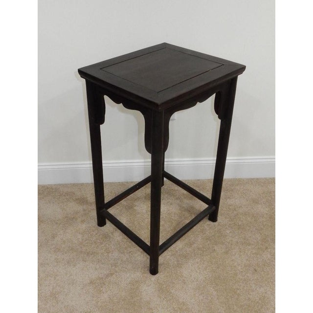 Antique Chinese Zitan Wood Side Table - Image 2 of 11