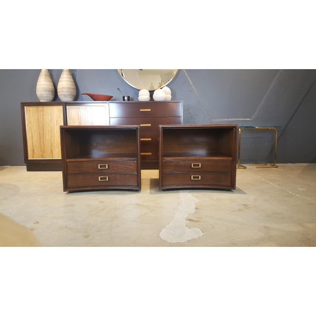Paul Frankl for Johnson Furniture Walnut Nightstands - A Pair - Image 8 of 8