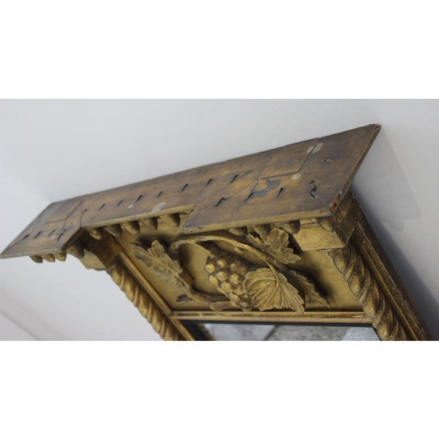 Giltwood 1860s Carved Neoclassical Mirror For Sale - Image 4 of 13