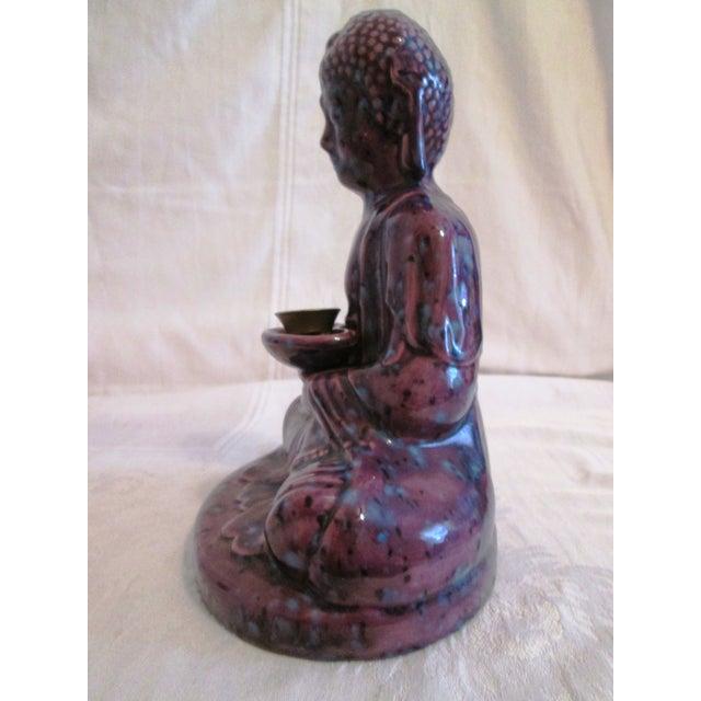 Mid-Century Dripglaze Ceramic Buddha Incense - Image 6 of 9