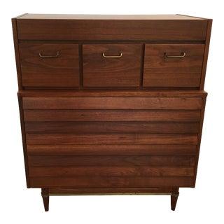 American of Martinsville Highboy Dresser, 1950s