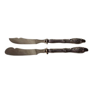Antique French Silverplate Knives - a Pair For Sale