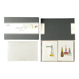 """""""Tassels Too"""" - Couplet Boxed Stationery - Folded Card Pair - Set of 10 For Sale"""
