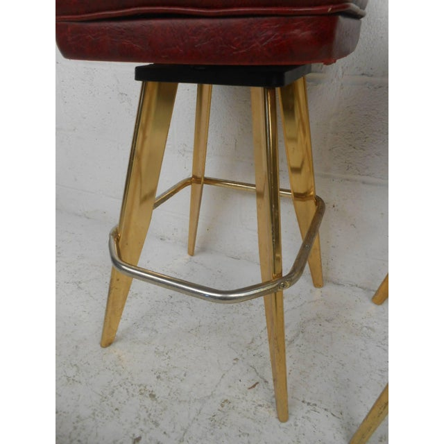 Six Vintage Casino Swivel Stools - Image 3 of 9