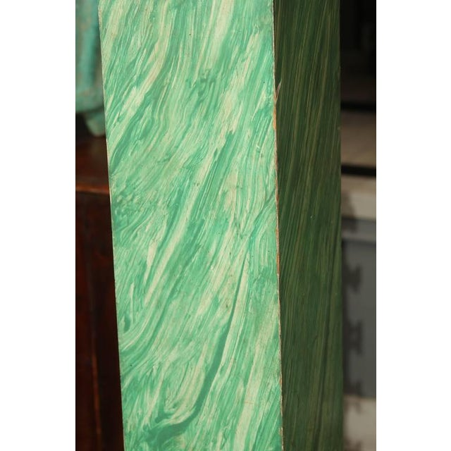 Modern Faux Malachite Floor Lamps For Sale - Image 3 of 8