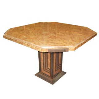 Art Deco Marble and Iron Cafe or Game Table For Sale