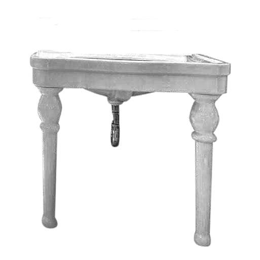 French Pedestal Sink: 20th Century French White Porcelain Pedestal Sink
