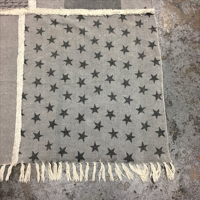 Grey Cotton Woven Rug - 6' X 8' - Image 4 of 8