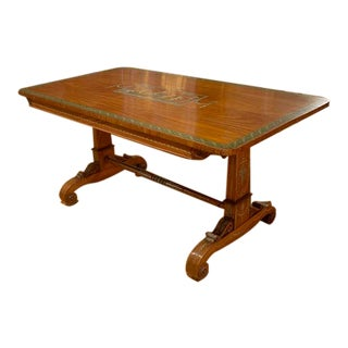 Edwardian Satinwood and Painted English Centre Table For Sale