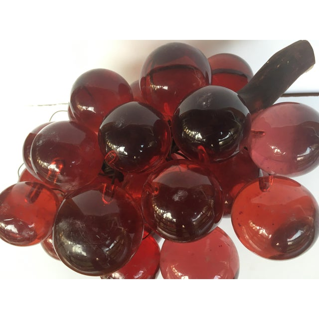Mid-Century Modern 1960's Bunch of Lucite Ruby Red Grapes For Sale - Image 3 of 10