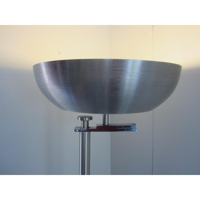 Kurt Versen Spun Aluminium Flip Top Floor Lamp For Sale In Los Angeles - Image 6 of 11