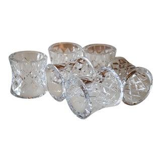 Vintage Alana Comeragh Waterford Crystal Old Mark Napkin Rings - Set of 6 For Sale