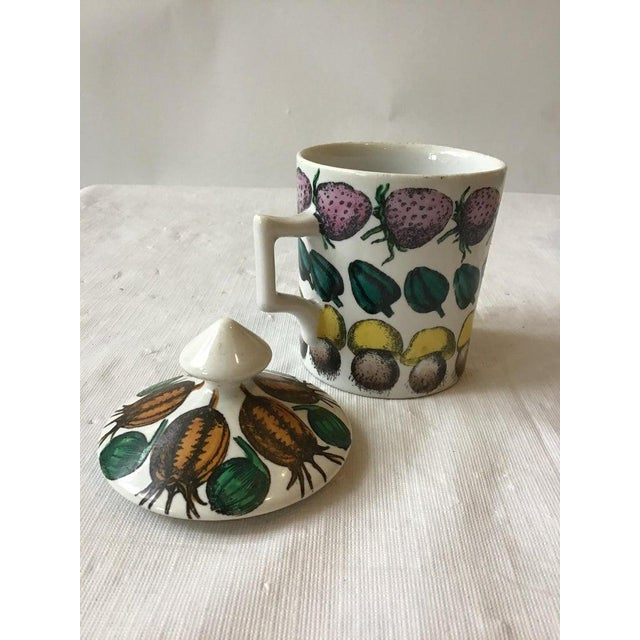 Mid-Century Modern 3 Fornasetti 1960s Giostra Di Frutta Mugs With Lids For Sale - Image 3 of 6