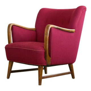 Danish Mid-Century Lounge Chair Attributed to h.w. Klein for n.a. Jorgensen For Sale