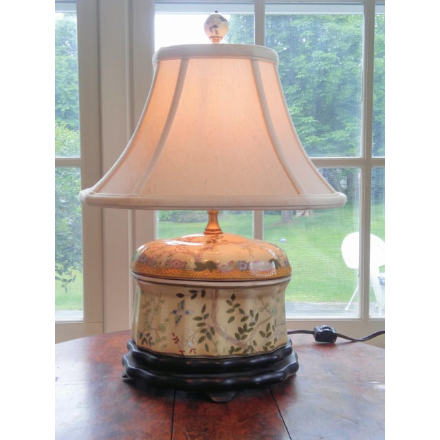 Chinese Oval Jar Lamp - Image 2 of 9