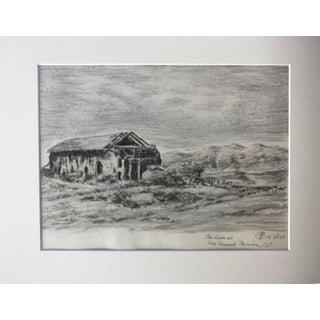 1923 Mission San Fernando Barn Drawing For Sale