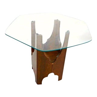 Harvey Probber Mid-Century Modern Glass Top Side Table For Sale
