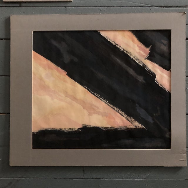 Original Vintage Ray Kinlock Abstract Paintings on Fabric - Collection of 7 For Sale In Philadelphia - Image 6 of 9