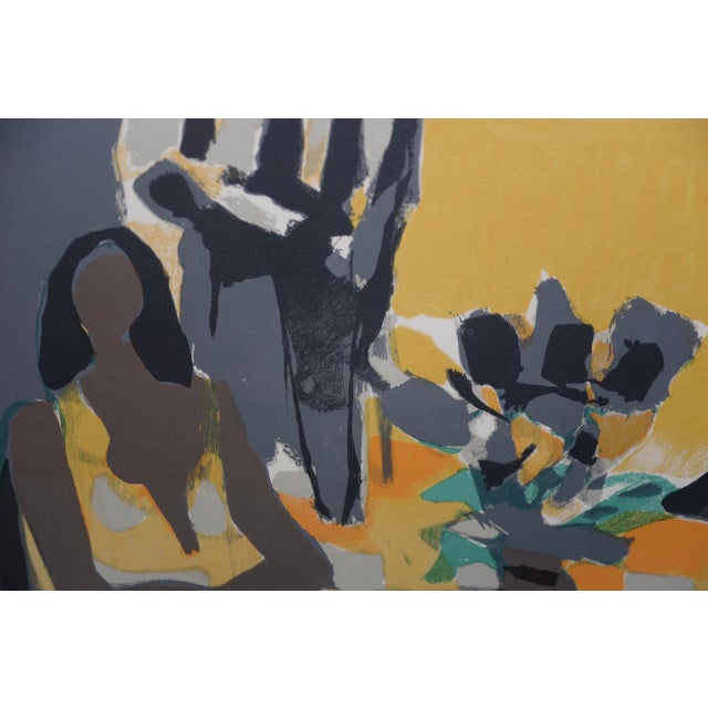 Yellow Marcel Mouly (French, 1918-2008) Vintage Lithograph Signed / Numbered C.1980s For Sale - Image 8 of 10