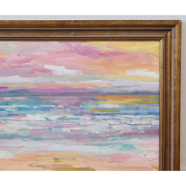 Stunning Impressionist Seascape Painting by Juan Pepe Guzman For Sale - Image 4 of 9