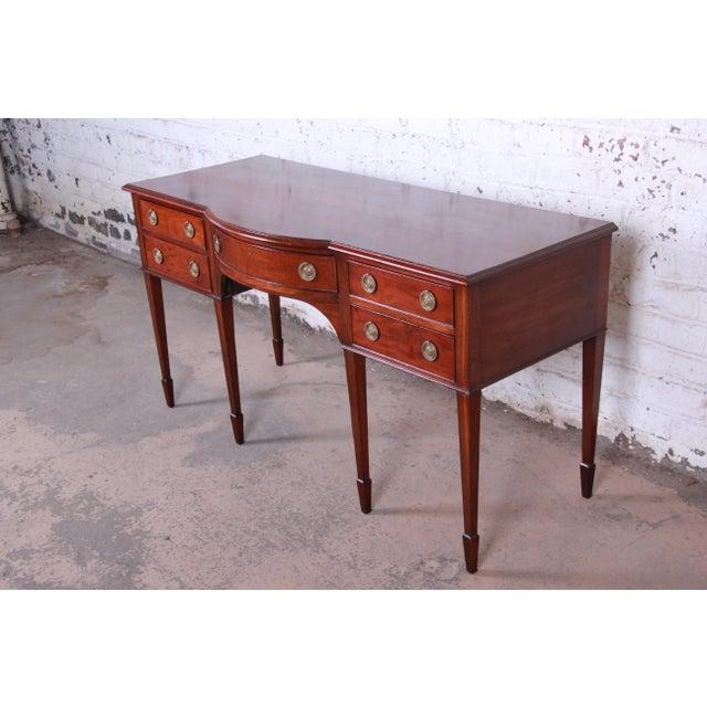 English Antique English Hepplewhite Style Mahogany Sideboard Buffet For Sale - Image 3 of 13