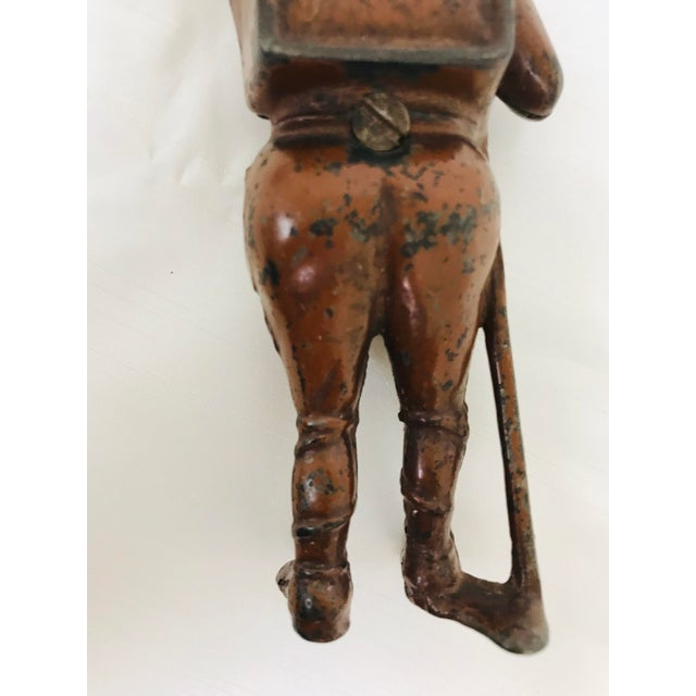 Antique Cast Iron Boy Scout Coin Bank For Sale - Image 10 of 11