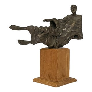 1970s Richard Rosenblum Cast and Painted Bronze Sculpture - Signed For Sale