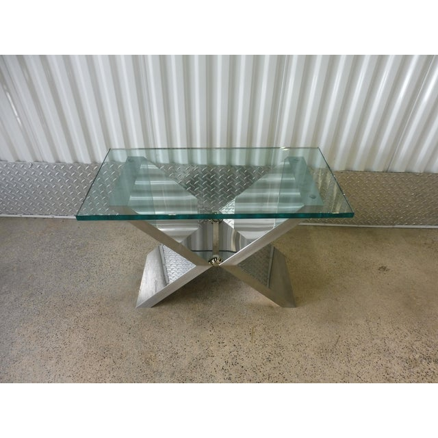 Contemporary J. Robert Scott High End Custom Made Exxus Table For Sale In Miami - Image 6 of 10